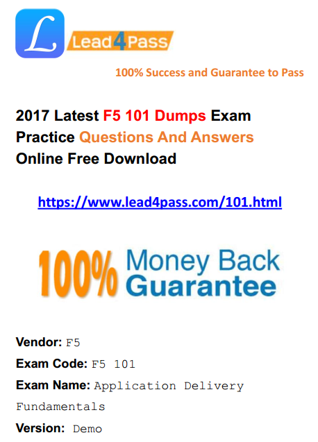 latest F5 100% pass 】Latest F5 Certification 101 Dumps Exam
